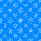 Картина безшовного рождества голубая с вычерченным Стоковое Фото