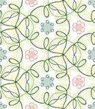 Картина безшовного цвета весны нарисованная вручную Стоковые Изображения RF