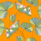 Картина безшовного цветка Waterlily тропическая Стоковые Изображения