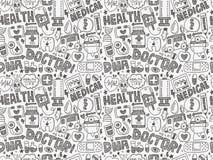 Картина безшовного doodle медицинская Стоковая Фотография