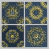 Картина безшовного monochrome цветка вектора геометрическая Стоковые Изображения RF