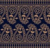 Картина безшовного traditonal вектора индийская r дизайн для ткани, печати, woodblock иллюстрация штока