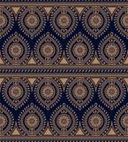 Картина безшовного traditonal вектора индийская r дизайн для ткани, печати, woodblock бесплатная иллюстрация