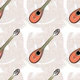 Картина безшовное Guitar-04 Стоковая Фотография RF