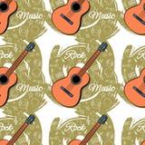 Картина безшовное Guitar-03 Стоковое Изображение