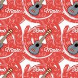 Картина безшовное Guitar-02 Стоковое Изображение RF