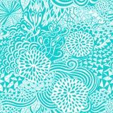 Картина безшовной волны нарисованная вручную, предпосылка волн (плавно крыть черепицей) иллюстрация вектора