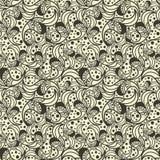 Картина безшовной волны нарисованная вручную Стоковые Фотографии RF