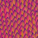 Картина безшовной волны нарисованный вручную яркая картина Стоковая Фотография