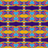Картина безшовной геометрии винтажная, этнический стиль Стоковое Изображение