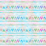 Картина безшовной нарисованной вручную акварели этническая племенная орнаментальная Стоковое Фото