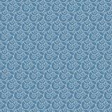 Картина безшовной свирли вектора белая и голубая волны японца Стоковые Изображения RF