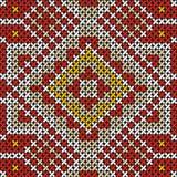 Картина безшовным handmade крест-стежком этническая Стоковая Фотография
