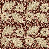 Картина безшовных флористических листьев абстрактная иллюстрация вектора