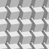 Картина белых кубов безшовная Стоковое Фото