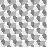 Картина белых кубов безшовная Стоковые Фото