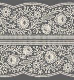 Картина белого шнурка безшовная Стоковые Фотографии RF
