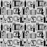 Картина бокалов безшовная Стоковая Фотография