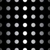 Картина большой точки безшовная Текстура абстрактной моды черно-белая Графический стиль для обоев Стоковые Фотографии RF