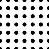 Картина большой точки безшовная Текстура абстрактной моды черно-белая Графический стиль для обоев Стоковая Фотография