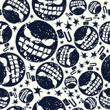 Картина бомбы хеллоуина безшовная иллюстрация штока