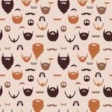 Картина бород и усиков Стоковая Фотография RF