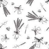 Картина букетов лаванды безшовная Стоковые Изображения