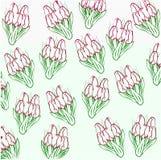 Картина букетов тюльпанов Стоковые Изображения RF
