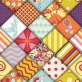 Картина блока лоскутного одеяла безшовная Стоковое Изображение RF