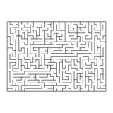 Картина вектора лабиринта, лабиринта белизна изолированная предпосылкой Стоковая Фотография