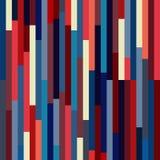 Картина вектора абстрактная безшовная с str ткани стиля цвета США Бесплатная Иллюстрация