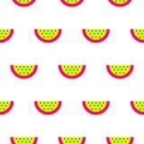 Картина вектора арбуза яркая неоновая безшовная Стоковые Фото
