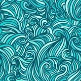 Картина вектора безшовная абстрактная нарисованный вручную Стоковая Фотография