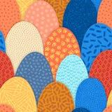 Картина вектора безшовная абстрактная с формами дуги руки вычерченными Текстурированные диаграммы Оно выглядит как холмы или squa стоковое изображение