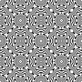 Картина вектора безшовная абстрактная черно-белая абстрактные обои предпосылки стоковая фотография