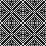 Картина вектора безшовная абстрактная черно-белая абстрактные обои предпосылки стоковые изображения
