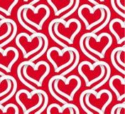 Картина вектора безшовная белых сердец Стоковое Фото