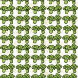 Картина вектора безшовная брокколи эскиза Стоковая Фотография RF