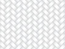 Картина вектора безшовная вплетая диапазонов белая текстура Стоковое Изображение