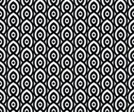 Картина вектора безшовная в аравийском стиле Абстрактная графическая monochrome предпосылка с тонкими волнистыми линиями, чувстви Стоковая Фотография RF