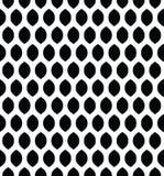 Картина вектора безшовная в аравийском стиле Абстрактная графическая monochrome предпосылка с тонкими волнистыми линиями, чувстви Стоковые Изображения