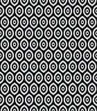 Картина вектора безшовная в аравийском стиле Абстрактные графические волнистые линии, чувствительная решетка Стоковые Фотографии RF