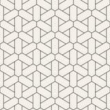 Картина вектора безшовная геометрическая Простые абстрактные линии решетка Повторение предпосылки элементов стильной иллюстрация штока