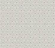 Картина вектора безшовная геометрическая Простые абстрактные тонкие линии решетка Повторение косоугольника формирует крыть черепи иллюстрация штока