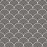Картина вектора безшовная геометрическая Современные абстрактные округленные линии текстура Повторение концентрических смелых пол иллюстрация штока