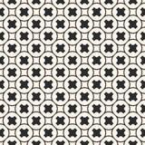 Картина вектора безшовная, геометрическая текстура, ровные кресты, круговая решетка бесплатная иллюстрация