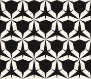 Картина вектора безшовная геометрическая Черно-белая текстура с шестиугольной решеткой иллюстрация штока