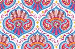 Картина вектора безшовная для шаблона дизайна; винтажное богато украшенное оформление; Восточный элемент стиля Роскошное восточно бесплатная иллюстрация