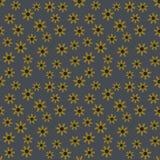 Картина вектора безшовная желтых цветков на предпосылке джинсовой ткани иллюстрация вектора
