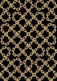 Картина вектора безшовная золотых цепей Стоковые Фото
